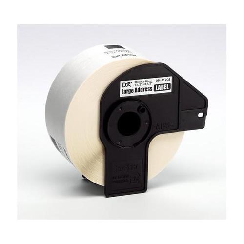 Einzeletikettenrollen Adress-Etiketten 38x90mm Thermopapier Brother DK-11208 (PACK=400 STÜCK) Produktbild