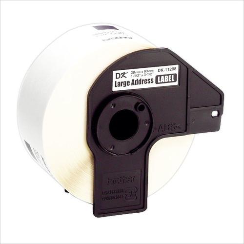Einzeletikettenrollen Adress-Etiketten 38x90mm Thermopapier Brother DK-11208 (PACK=400 STÜCK) Produktbild Additional View 2 L