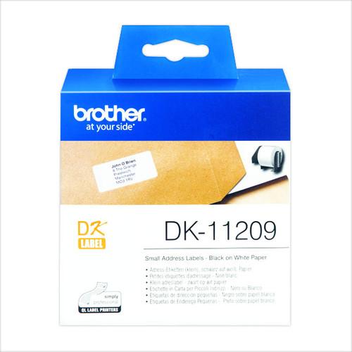 Einzeletikettenrollen Adress-Etiketten 29x62mm Thermopapier Brother DK-11209 (PACK=800 STÜCK) Produktbild Additional View 1 L