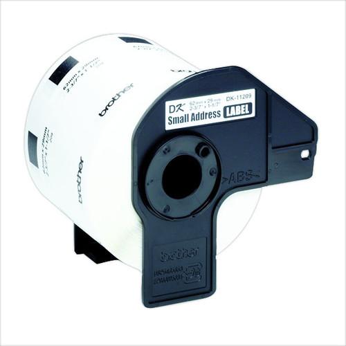 Einzeletikettenrollen Adress-Etiketten 29x62mm Thermopapier Brother DK-11209 (PACK=800 STÜCK) Produktbild Additional View 2 L