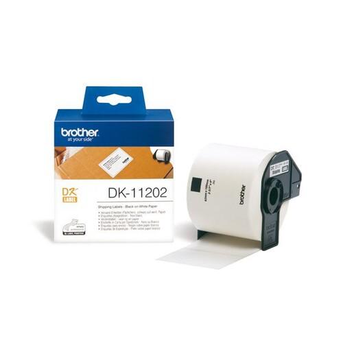 Einzeletikettenrollen Versand-Etiketten 62x100mm Thermopapier Brother DK-11202 (PACK=300 STÜCK) Produktbild