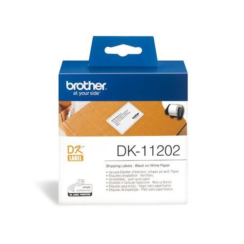 Einzeletikettenrollen Versand-Etiketten 62x100mm Thermopapier Brother DK-11202 (PACK=300 STÜCK) Produktbild Additional View 1 L