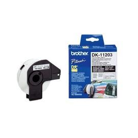 Einzeletikettenrollen Ordner-Etiketten 17x87mm Thermopapier Brother DK-11203 (PACK=300 STÜCK) Produktbild