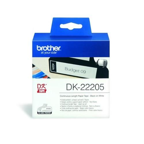 Endlosetikettenrolle 62mmx30,48m weiß Papier Brother DK-22205 (PACK=30,48 METER) Produktbild Additional View 1 L