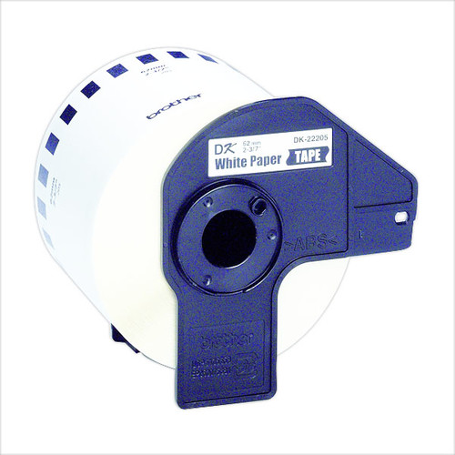 Endlosetikettenrolle 62mmx30,48m weiß Papier Brother DK-22205 (PACK=30,48 METER) Produktbild Additional View 2 L
