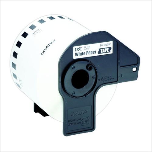 Endlosetikettenrolle 62mmx30,48m weiß Papier Brother DK-22205 (PACK=30,48 METER) Produktbild Additional View 3 L