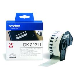 Endlosetikettenrollen 29mmx15,24m weiß Film Brother DK-22211 (PACK=15,24 METER) Produktbild