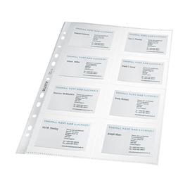 Visitenkarten-Prospekthülle A4 für 16Karten farblos PP Leitz 4758-30-03 (PACK=10 STÜCK) Produktbild
