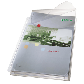 Prospekthüllen Maxi mit Klappe A4 170µ farblos PVC genarbt Leitz 4757-30-03 (PACK=5 STÜCK) Produktbild