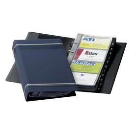 Visitenkartenringbuch mit Register Visifix erweiterbar 145x255mm dunkelblau Durable 2385-07 Produktbild