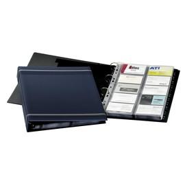 Visitenkartenringbuch mit Register Visifix erweiterbar A4 dunkelblau Durable 2388-07 Produktbild