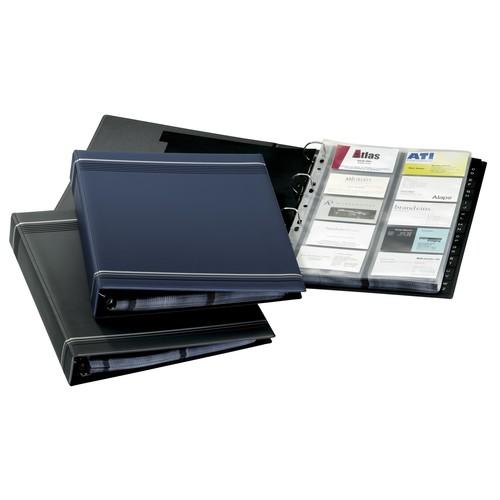 Visitenkartenringbuch mit Register Visifix erweiterbar A4 anthrazit Durable 2388-58 Produktbild Additional View 1 L