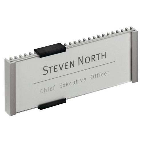 Türschild INFO SIGN 153x60mm silber Aluminium Durable 4800-23 Produktbild Front View L