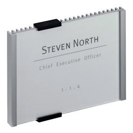 Türschild INFO SIGN 149x105,5mm silber Aluminium Durable 4801-23 Produktbild