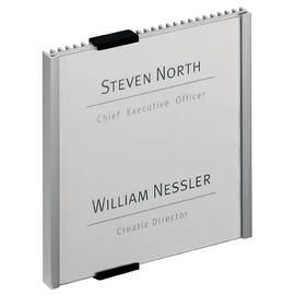 Türschild INFO SIGN 153x155mm silber Aluminium Durable 4802-23 Produktbild