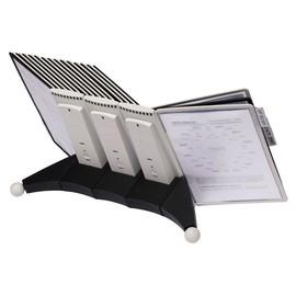 Sichttafeltischständer SHERPA TABLE 10 5623 + je 5 Sichttafeln 5606 schwarz + grau Durable 5632-22 Produktbild