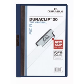 Klemmmappe Duraclip30 A4 bis 30Blatt nachtblau Hartfolie Durable 2200-28 Produktbild