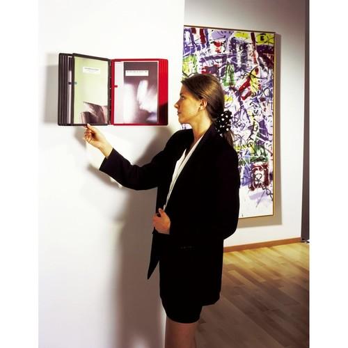 Sichttafelwandhalter SHERPA WALL 10 5621 + je 5 Sichttafeln 5606 schwarz + grau Durable 5631-22 Produktbild Additional View 1 L