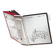 Sichttafelwandhalter SHERPA WALL 10 5621 + je 5 Sichttafeln 5606 schwarz + grau Durable 5631-22 Produktbild Additional View 2 S
