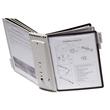 Sichttafelwandhalter SHERPA WALL 10 5621 + je 5 Sichttafeln 5606 schwarz + grau Durable 5631-22 Produktbild Additional View 5 S