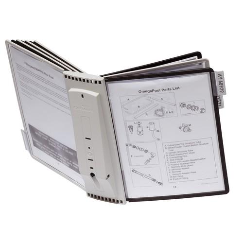 Sichttafelwandhalter SHERPA WALL 10 5621 + je 5 Sichttafeln 5606 schwarz + grau Durable 5631-22 Produktbild Additional View 5 L