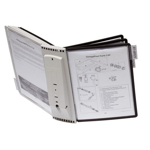 Sichttafelwandhalter SHERPA WALL 10 5621 + je 5 Sichttafeln 5606 schwarz + grau Durable 5631-22 Produktbild Additional View 6 L
