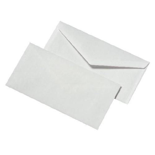 Briefumschlag ohne Fenster mit Seidenfutter DIN lang 110x220mm nassklebend 80g weiß (PACK=25 STÜCK) Produktbild