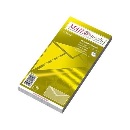 Briefumschlag ohne Fenster mit Seidenfutter DIN lang 110x220mm nassklebend 80g weiß (PACK=25 STÜCK) Produktbild Additional View 1 L
