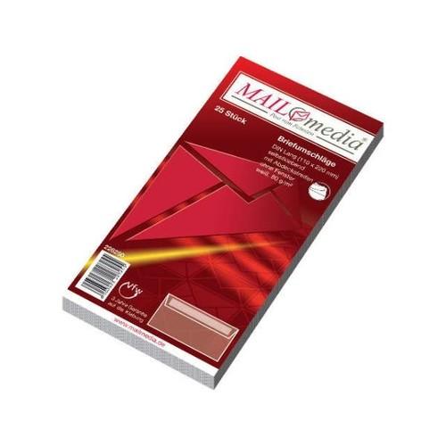 Briefumschlag ohne Fenster DIN lang 110x220mm mit Haftklebung 80g weiß (PACK=25 STÜCK) Produktbild Additional View 1 L