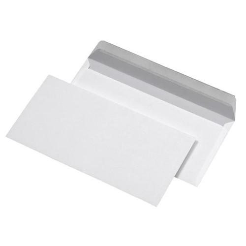 Briefumschlag ohne Fenster DIN lang 110x220mm mit Haftklebung 80g weiß (PACK=25 STÜCK) Produktbild