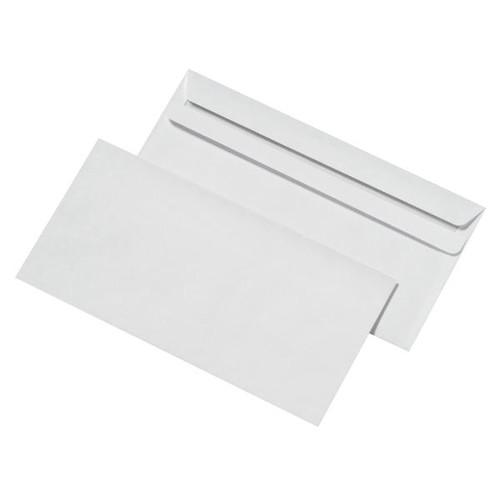 Briefumschlag selbstklebend weiß 75g/m2 DIN lang+ 125x229mm / ohne Fenster / (PACK=25 STÜCK) Produktbild Additional View 4 L