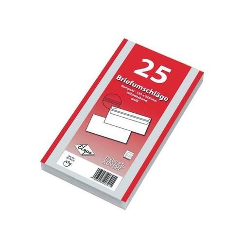 Briefumschlag selbstklebend weiß 75g/m2 DIN lang+ 125x229mm / ohne Fenster / (PACK=25 STÜCK) Produktbild Additional View 5 L