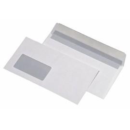 Briefumschlag mit Fenster 125x229mm selbstklebend 75g weiß (PACK=25 STÜCK) Produktbild