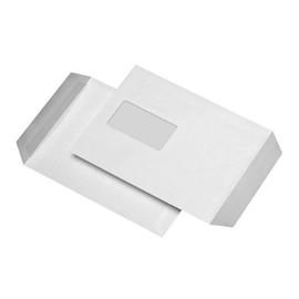 Versandtasche mit Fenster C5 162x229mm mit Haftklebung 90g weiß (PACK=10 STÜCK) Produktbild