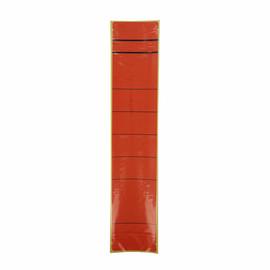 Rückenschilder für Handbeschriftung 60x280mm lang breit rot selbstklebend (BTL=10 STÜCK) Produktbild