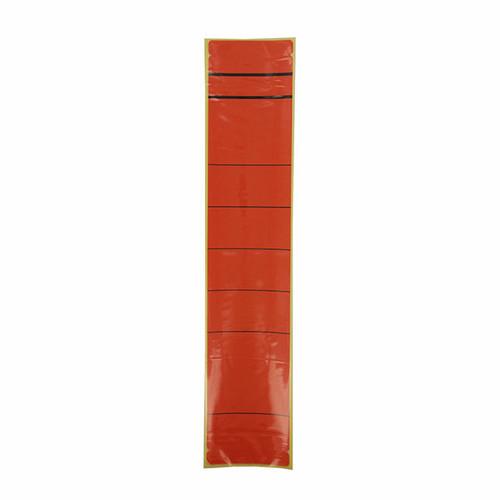 Rückenschilder für Handbeschriftung 60x280mm lang breit rot selbstklebend (BTL=10 STÜCK) Produktbild Front View L
