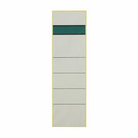 Rückenschilder für Handbeschriftung 60x192mm kurz breit weiß selbstklebend (BTL=10 STÜCK) Produktbild