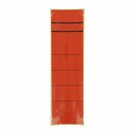 Rückenschilder für Handbeschriftung 60x192mm kurz breit rot selbstklebend (BTL=10 STÜCK) Produktbild