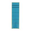 Rückenschilder für Handbeschriftung 60x192mm kurz breit blau selbstklebend (BTL=10 STÜCK) Produktbild