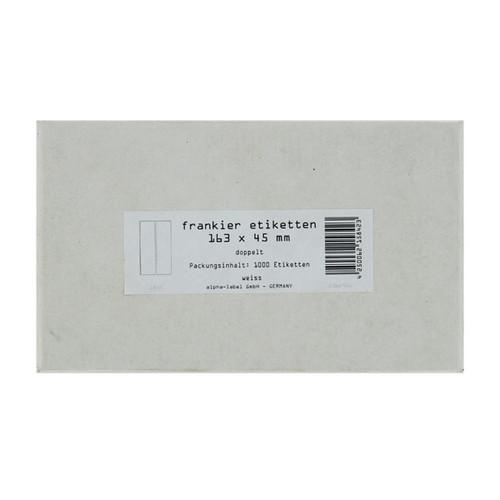 Frankieretiketten doppelt 163x45mm weiß 5842 (SCH=1000 STÜCK) Produktbild