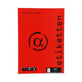 Etiketten Inkjet+Laser+Kopier 210x297mm auf A4 Bögen weiß 5906 (PACK=100 STÜCK) Produktbild