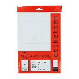 Rückenschilder zum Bedrucken 61x190mm kurz breit weiß selbstklebend auf A4 Bögen 5908 (PACK=320 STÜCK) Produktbild