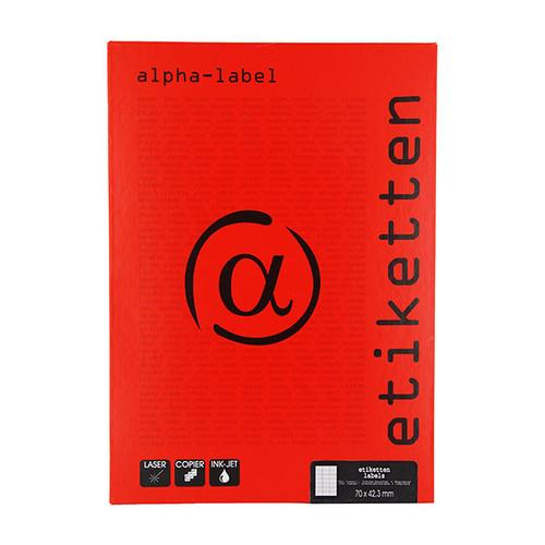 Etiketten Inkjet+Laser+Kopier 70x42,3mm auf A4 Bögen weiß 5915 (PACK=2100 STÜCK) Produktbild Front View L