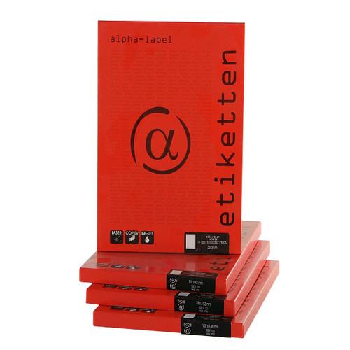 105 x 148 mm Laseretiketten rot A4 Bogen Papier 400 Laserdrucker Etiketten