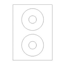 CD-Etiketten Inkjet+Laser+Kopier 117mm ø weiß 5777 (PACK=200 STÜCK) Produktbild