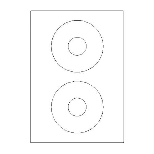 CD-Etiketten Inkjet+Laser+Kopier 117mm ø weiß 5777 (PACK=200 STÜCK) Produktbild Front View L