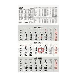Dreimonatskalender 2021 29,5x49cm schwarz/rot Zettler 956-0000 Produktbild