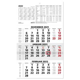 Dreimonatskalender 2022 29,5x49cm schwarz/rot Zettler 956-0000 Produktbild