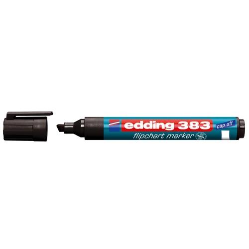 Flipchartmarker 383 1-5mm Keilspitze schwarz Edding 4-383001 Produktbild
