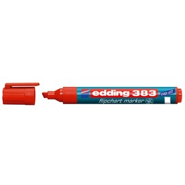Flipchartmarker 383 1-5mm Keilspitze rot Edding 4-383002 Produktbild